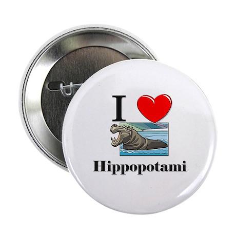 "I Love Hippopotami 2.25"" Button"