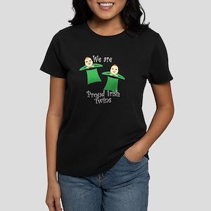 Proud Irish Twins Women's Dark T-Shirt