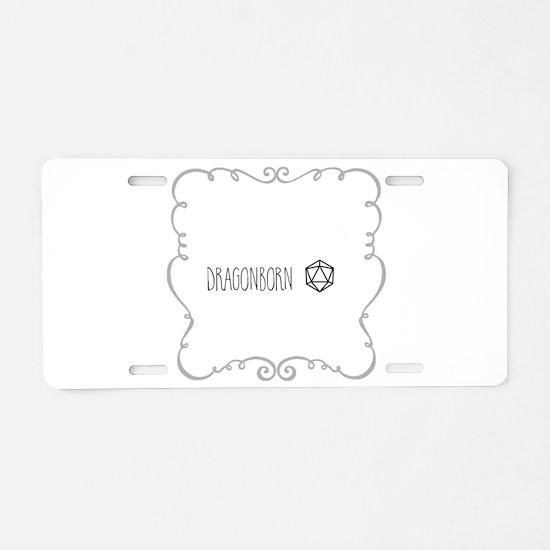 Dragonborn Aluminum License Plate