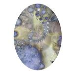 Pretty Pastels Fractal Pattern Keepsake (Oval)
