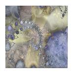 Pretty Pastels Fractal Pattern Tile Coaster