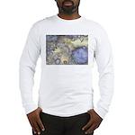 Pretty Pastels Fractal Pattern Long Sleeve T-Shirt