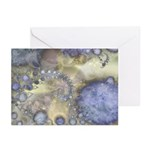 Pretty Pastels Fractal Pattern Greeting Cards (6)