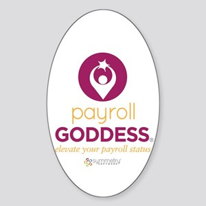 Payroll Goddess Gear Sticker (Oval)