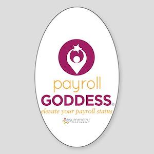 Payroll Goddess Gear Sticker (Oval)
