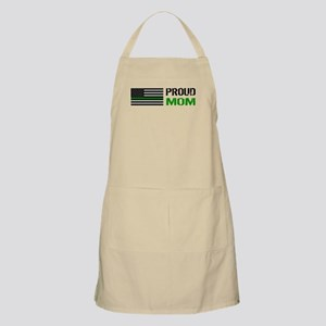 U.S. Flag Green Line: Proud Mom Light Apron