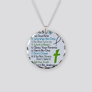 Gods top ten Necklace Circle Charm