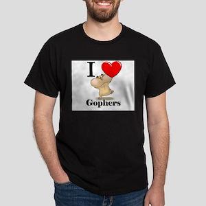 I Love Gophers Dark T-Shirt