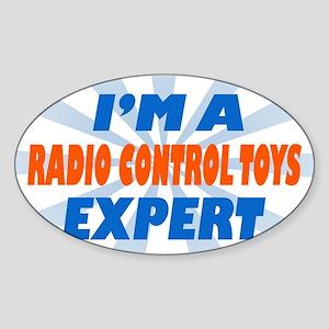 im a radio control toys exper Oval Sticker