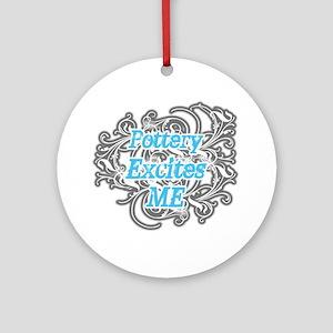 Pottery Excites Me Ornament (Round)