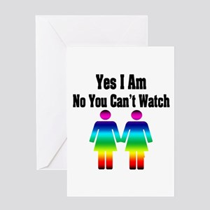 """""""Yes I Am No You Can't Watch"""" Greeting Card"""