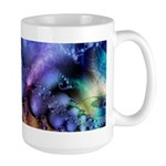 Brilliant Blues Pattern Large Mug
