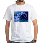 Brilliant Blues Artistry White T-Shirt