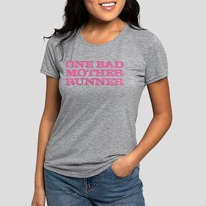 One Bad Mother Runner Pink Women's Dark T-Shirt