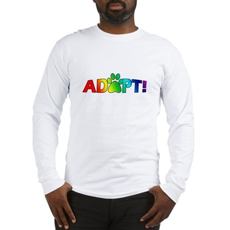 Multi Color Adopt Long Sleeve T-Shirt