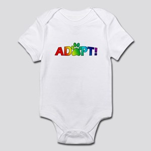 Multi Color Adopt Baby Bodysuit