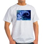 Brilliant Blues Artistry Ash Grey T-Shirt