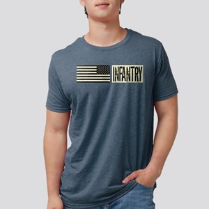 U.S. Military: Infantry (Bl Mens Tri-blend T-Shirt