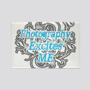 Photography excites me Rectangle Magnet