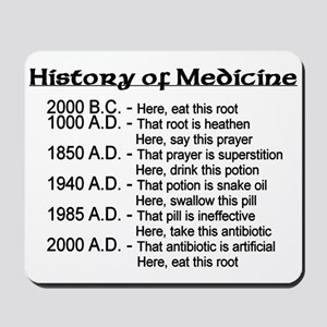 History of Medicine Mousepad