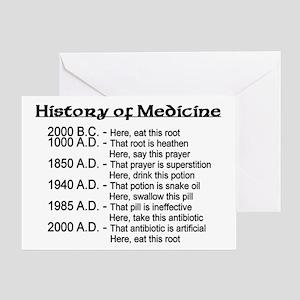 History of Medicine Greeting Card