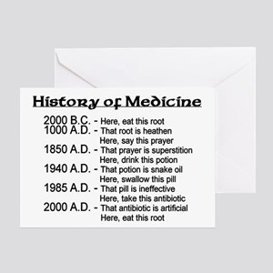 Funny doctor greeting cards cafepress history of medicine greeting card m4hsunfo