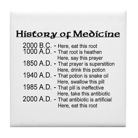 History of Medicine Tile Coaster