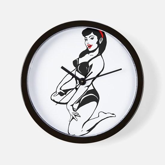 Bette Noir Babe Wall Clock