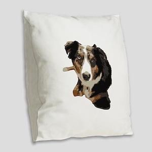 Dat Aussie Burlap Throw Pillow