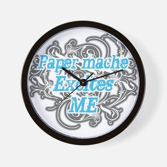 Paper mache Excites Me Wall Clock