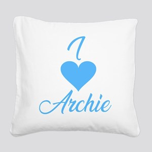I heart Archie Square Canvas Pillow