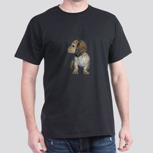 Longhair Doxie Puppy Dark T-Shirt
