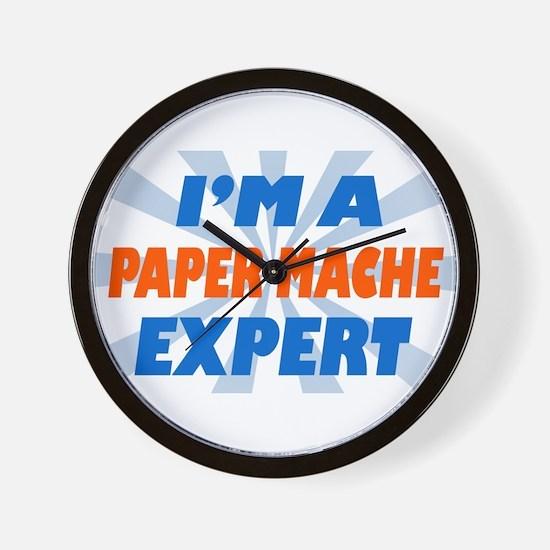 im a paper mache expert Wall Clock