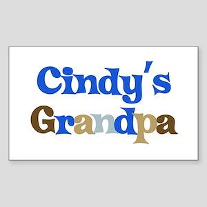 Cindy's Grandpa Rectangle Sticker