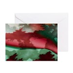 Rich Reds Fractal Pattern Greeting Cards (6)