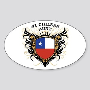 Number One Chilean Aunt Oval Sticker