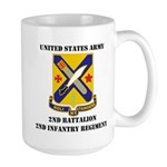 2ND BATTALION 2ND INFANTRY REGIMENT Large Mug