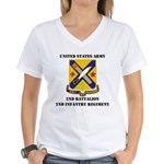 2ND BATTALION 2ND INFANTRY REGIMENT Women's V-Neck
