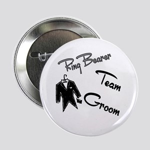 "Ring Bearer Team Groom Button 2.25"" Button"