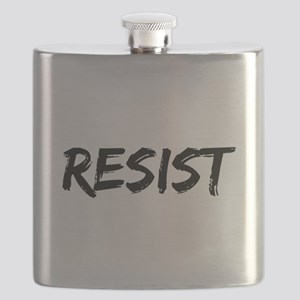 Resist In Black Text Flask