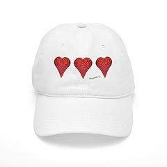 Strawberry Hearts Baseball Cap