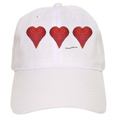 Strawberry Hearts Baseball Cap