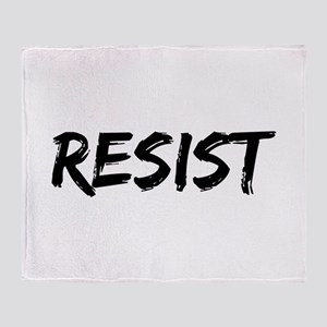 Resist In Black Text Throw Blanket
