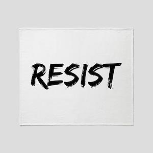 Resist In Black Text Throw Blanket