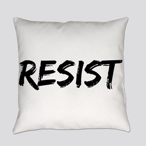 Resist In Black Text Everyday Pillow