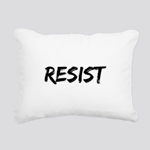 Resist In Black Text Rectangular Canvas Pillow