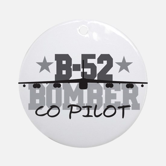 B-52 Aviation Co Pilot Ornament (Round)