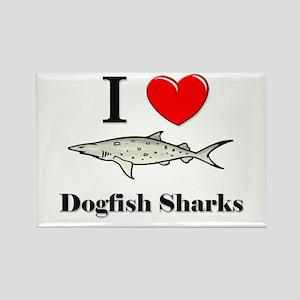 I Love Dogfish Sharks Rectangle Magnet