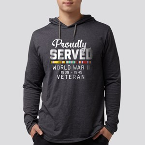 Proudly Served WWII Veteran Mens Hooded Shirt