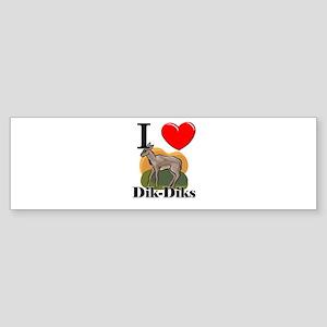 I Love Dik-Diks Bumper Sticker